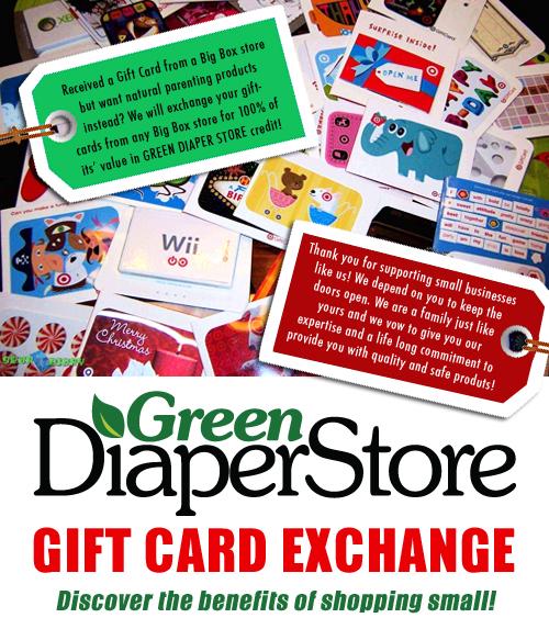 Gift Card Exchange Program Green Diaper Store