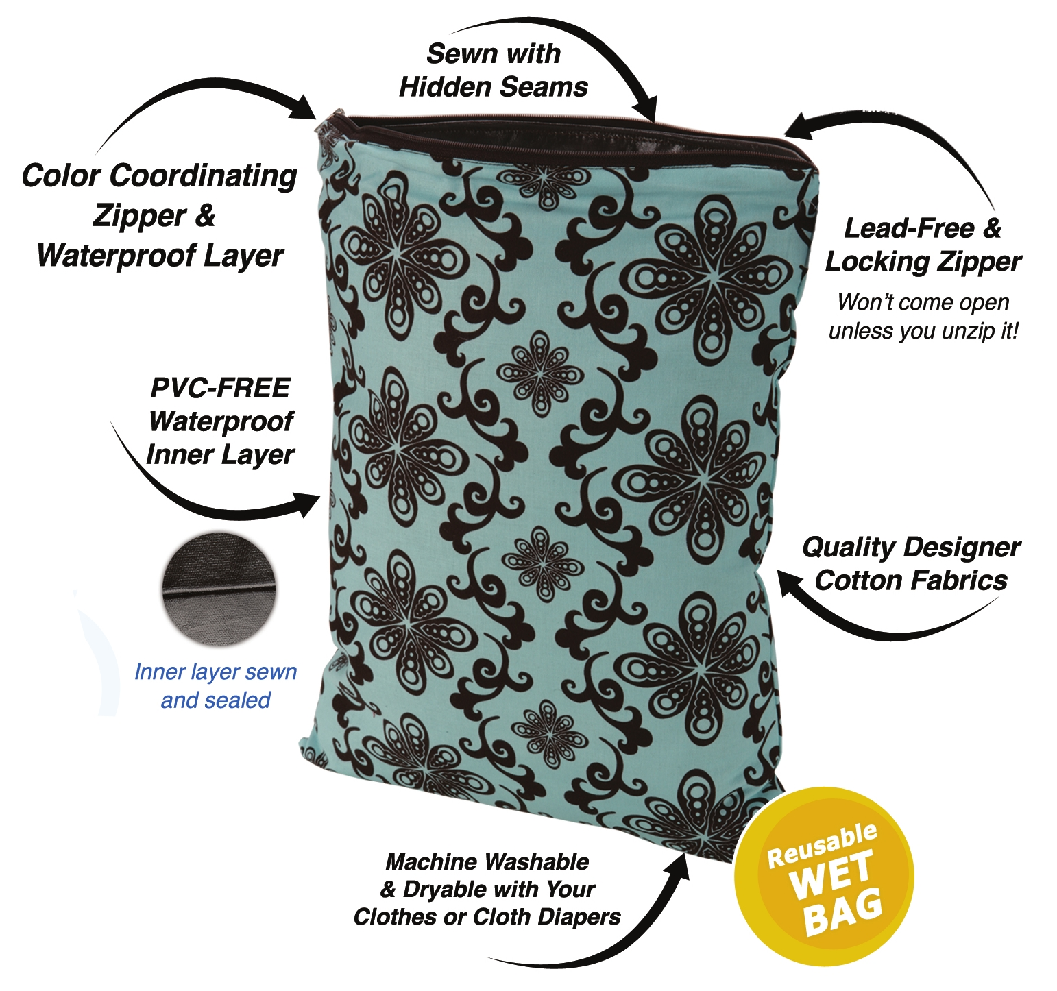 Planet Wise Wet Bags Small 8 X 10
