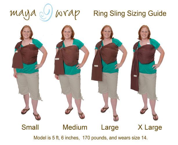 Maya Wrap Size Chart