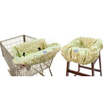 Itzy Ritzy Shopping Cart & High Chair Cover Avocado Damask