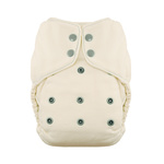 Natural One Size Fitted Diaper by Thirsties Fin
