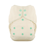 Natural One Size Fitted Diaper by Thirsties Moss