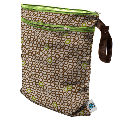 Planet Wise Wet/Dry Bag Lime Coco Bean