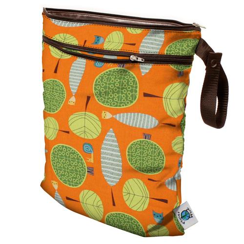 Planet Wise Wet/Dry Bag Orange Woods