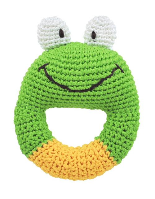 Dandelion Handcrafted Ring Rattle Frog